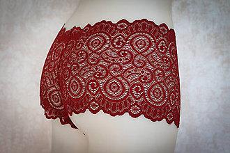 Bielizeň/Plavky - Červené čipkované nohavičky - 7739617_