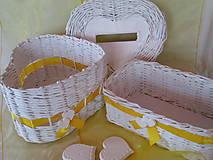 Košíky - Košíky - Svadobná súprava v žltom - 7737200_