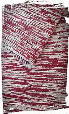 Úžitkový textil - Koberček -červený melír - 7736062_