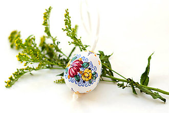 Dekorácie - Veľkonočné tradičné keramické vajíčko - 7735955_