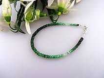 smaragdový náramok - brúsený smaragd náramok