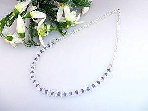 Náhrdelníky - náhrdelník tanzanit krištál swarovski - 7737249_