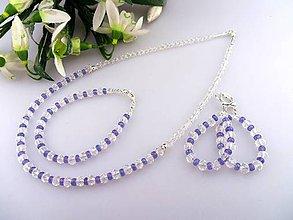 Sady šperkov - tanzanit swarovsku krištál súprava - 7738216_