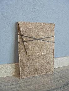 Na tablet - Filcový obal na tablet s koženými remienkami - 7737853_