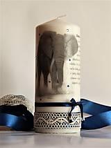 Svietidlá a sviečky - Dekoračná sviečka  - slon - 7738675_