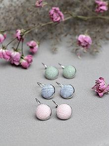 Náušnice - Jarná kolekcia - set troch pôvabných náušníc z ľanu - 7736720_