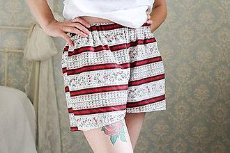 Pyžamy a župany - Šortky minimalistický folk - 7739291_