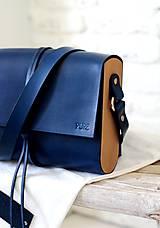 - Kabelka na rameno EXTRA WIDE MIDI BLUE/ širšia verzia/ - 7737490_