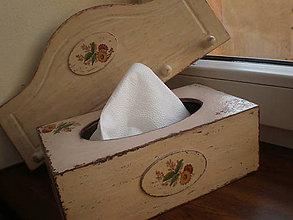 Krabičky - Servítkovník  Shabby  Chic - 7738123_