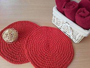 Úžitkový textil - Prestieranie červené - Valentín - 7735982_
