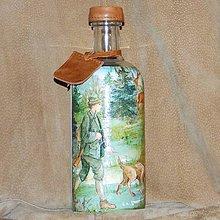 Nádoby - Fľaša pre horára Na obchôdzke revírom - 7740286_