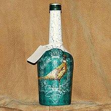 Nádoby - Fľaša pre poľovníka Bažanty - 7740303_