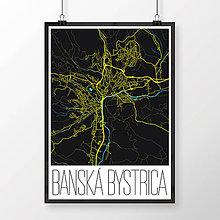 Grafika - BANSKÁ BYSTRICA, moderná, čierna - 7739317_