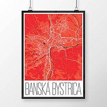 Grafika - BANSKÁ BYSTRICA, moderná, červená - 7739344_