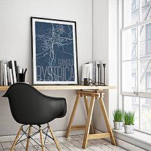 Grafika - BANSKÁ BYSTRICA, elegantná, tmavomodrá - 7739380_