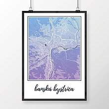 Grafika - BANSKÁ BYSTRICA, klasická, modro-fialová - 7739407_