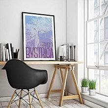 Grafika - BANSKÁ BYSTRICA, elegantná, modro-fialová - 7739429_