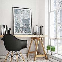 Grafika - BANSKÁ BYSTRICA, elegantná, svetlomodrá - 7739440_