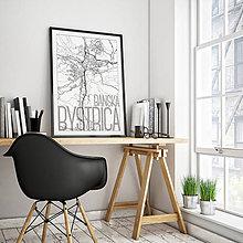 Grafika - BANSKÁ BYSTRICA, elegantná, biela - 7739460_