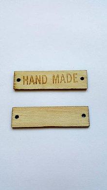 Komponenty - NAT6654, Drevená cedulka HAND MADE /1ks - 7736622_