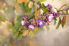 Ozdoby do vlasov - Kvetinový polvenček