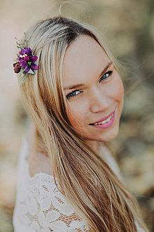Ozdoby do vlasov - Kvetinová sponka \
