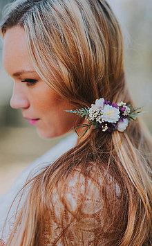 Ozdoby do vlasov - Kvetinová spona \