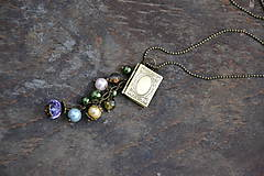 Náhrdelníky - medailón, knižka - 7736859_