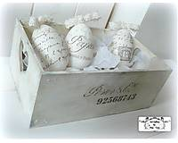 Vintage vajíčka v bedničke :)