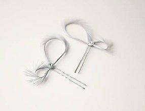 Ozdoby do vlasov - Strieborné fascinátory - Ozdoby do vlasov - 7739818_