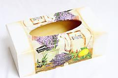 Krabičky - Provensal - krabica na vreckovky - 7739634_