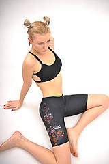 Nohavice - Krátke legíny - Ľudovky black - 7738405_
