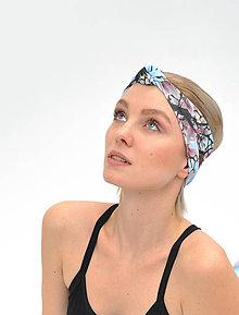 Ozdoby do vlasov - Čelenka s uzlom Laila´s magnolias - 7737683_