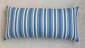 Úžitkový textil - Šupkový FILKI vankúš 40 cm (modro-biele pruhy) - 7735981_