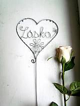 Dekorácie - láska strieborná... - 7736828_