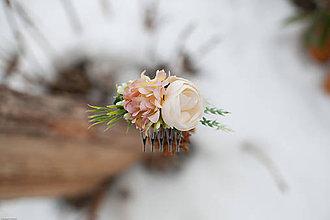 Ozdoby do vlasov - Kvetinkový hrebienok - 7739933_