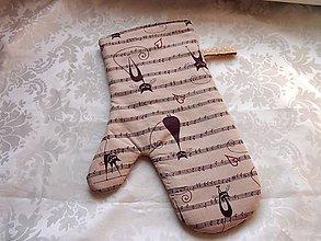 Úžitkový textil - Chňapka  kočkomil - 7739761_