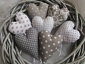 Darčeky pre svadobčanov - Sivé levanduľové srdiečká - 7737385_