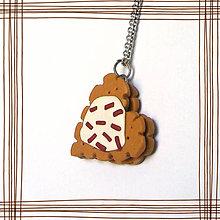 Náhrdelníky - Keksík srdce stracciatella - 7738537_