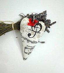 Dekorácie - ♥ hudobné levandulové - 7744417_