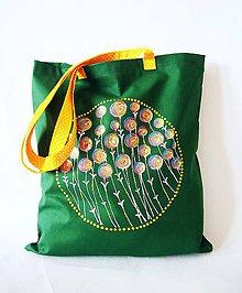 Nákupné tašky - Craspedia globosa - zelená ekotaška - 7742572_