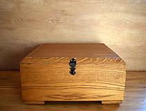 Krabičky - Dubová šperkovnica - 7740973_