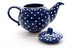 Nádoby - Kobaltový bodkatý čajník - 7741180_