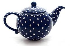 Nádoby - Kobaltový bodkatý čajník - 7741181_