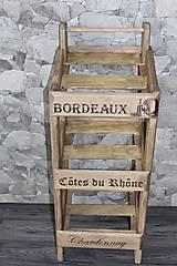 """Iné - Stojan na víno """"vozík"""" - 7743287_"""
