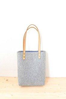 Veľké tašky - Purity... light grey... 100% prírodná... Merino & koža... 2017 - 7743800_