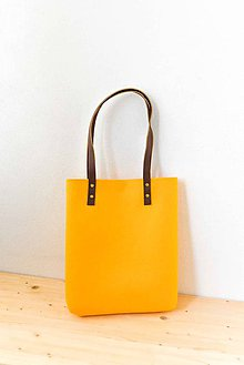 Kabelky - Urban... yellow... Felt & Leather... & Magnetic Closure - 7743949_