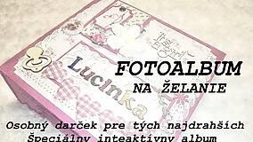 Papiernictvo - Fotoalbum-fotokniha na želanie pre bábätko - 7744382_