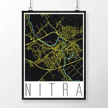 Grafika - NITRA, moderná, čierna - 7744552_