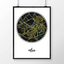 Grafika - NITRA, okrúhla, čierna - 7744556_